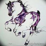 фото Эскизы тату конь от 29.09.2017 №109 - Sketches of a horse tattoo - tatufoto.com