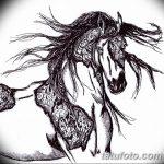 фото Эскизы тату конь от 29.09.2017 №110 - Sketches of a horse tattoo - tatufoto.com