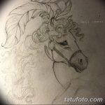 фото Эскизы тату конь от 29.09.2017 №111 - Sketches of a horse tattoo - tatufoto.com