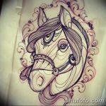 фото Эскизы тату конь от 29.09.2017 №113 - Sketches of a horse tattoo - tatufoto.com
