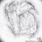 фото Эскизы тату конь от 29.09.2017 №115 - Sketches of a horse tattoo - tatufoto.com