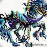 фото Эскизы тату конь от 29.09.2017 №116 - Sketches of a horse tattoo - tatufoto.com
