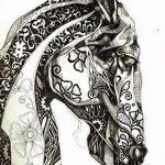 фото Эскизы тату конь от 29.09.2017 №117 - Sketches of a horse tattoo - tatufoto.com