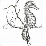 фото Эскизы тату конь от 29.09.2017 №119 - Sketches of a horse tattoo - tatufoto.com