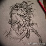 фото Эскизы тату конь от 29.09.2017 №121 - Sketches of a horse tattoo - tatufoto.com
