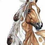 фото Эскизы тату конь от 29.09.2017 №124 - Sketches of a horse tattoo - tatufoto.com