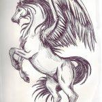 фото Эскизы тату конь от 29.09.2017 №125 - Sketches of a horse tattoo - tatufoto.com