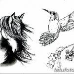 фото Эскизы тату конь от 29.09.2017 №127 - Sketches of a horse tattoo - tatufoto.com