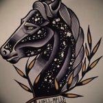 фото Эскизы тату конь от 29.09.2017 №128 - Sketches of a horse tattoo - tatufoto.com