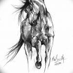 фото Эскизы тату конь от 29.09.2017 №129 - Sketches of a horse tattoo - tatufoto.com