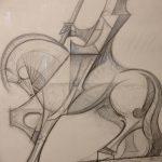 фото Эскизы тату конь от 29.09.2017 №135 - Sketches of a horse tattoo - tatufoto.com