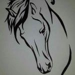 фото Эскизы тату конь от 29.09.2017 №137 - Sketches of a horse tattoo - tatufoto.com