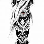 фото Эскизы тату конь от 29.09.2017 №138 - Sketches of a horse tattoo - tatufoto.com 12342366