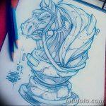 фото Эскизы тату конь от 29.09.2017 №140 - Sketches of a horse tattoo - tatufoto.com