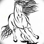 фото Эскизы тату конь от 29.09.2017 №146 - Sketches of a horse tattoo - tatufoto.com