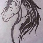 фото Эскизы тату конь от 29.09.2017 №150 - Sketches of a horse tattoo - tatufoto.com