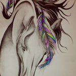 фото Эскизы тату конь от 29.09.2017 №151 - Sketches of a horse tattoo - tatufoto.com