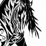 фото Эскизы тату конь от 29.09.2017 №154 - Sketches of a horse tattoo - tatufoto.com