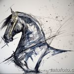 фото Эскизы тату конь от 29.09.2017 №156 - Sketches of a horse tattoo - tatufoto.com