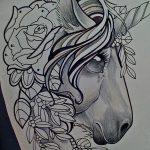 фото Эскизы тату конь от 29.09.2017 №159 - Sketches of a horse tattoo - tatufoto.com
