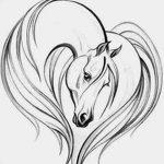 фото Эскизы тату конь от 29.09.2017 №160 - Sketches of a horse tattoo - tatufoto.com