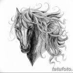 фото Эскизы тату конь от 29.09.2017 №164 - Sketches of a horse tattoo - tatufoto.com