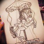 фото Эскизы тату конь от 29.09.2017 №167 - Sketches of a horse tattoo - tatufoto.com