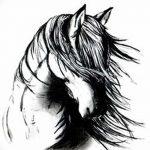 фото Эскизы тату конь от 29.09.2017 №171 - Sketches of a horse tattoo - tatufoto.com