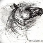 фото Эскизы тату конь от 29.09.2017 №172 - Sketches of a horse tattoo - tatufoto.com