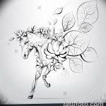 фото Эскизы тату конь от 29.09.2017 №174 - Sketches of a horse tattoo - tatufoto.com