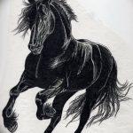 фото Эскизы тату конь от 29.09.2017 №182 - Sketches of a horse tattoo - tatufoto.com