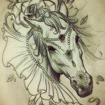 фото Эскизы тату конь от 29.09.2017 №185 - Sketches of a horse tattoo - tatufoto.com