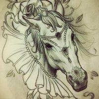 Эскизы тату конь