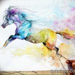 фото Эскизы тату конь от 29.09.2017 №186 - Sketches of a horse tattoo - tatufoto.com
