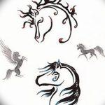 фото Эскизы тату конь от 29.09.2017 №187 - Sketches of a horse tattoo - tatufoto.com