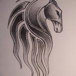 фото Эскизы тату конь от 29.09.2017 №191 - Sketches of a horse tattoo - tatufoto.com