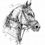 фото Эскизы тату конь от 29.09.2017 №192 - Sketches of a horse tattoo - tatufoto.com