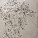 фото Эскизы тату конь от 29.09.2017 №193 - Sketches of a horse tattoo - tatufoto.com