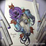 фото Эскизы тату конь от 29.09.2017 №198 - Sketches of a horse tattoo - tatufoto.com