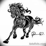 фото Эскизы тату конь от 29.09.2017 №200 - Sketches of a horse tattoo - tatufoto.com