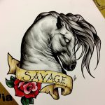 фото Эскизы тату конь от 29.09.2017 №201 - Sketches of a horse tattoo - tatufoto.com