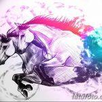 фото Эскизы тату конь от 29.09.2017 №203 - Sketches of a horse tattoo - tatufoto.com