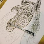 фото Эскизы тату конь от 29.09.2017 №204 - Sketches of a horse tattoo - tatufoto.com