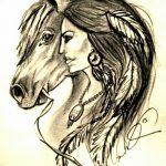 фото Эскизы тату конь от 29.09.2017 №206 - Sketches of a horse tattoo - tatufoto.com