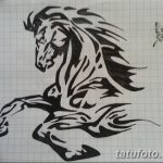 фото Эскизы тату конь от 29.09.2017 №208 - Sketches of a horse tattoo - tatufoto.com