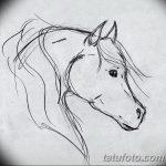 фото Эскизы тату конь от 29.09.2017 №210 - Sketches of a horse tattoo - tatufoto.com