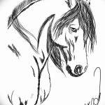 фото Эскизы тату конь от 29.09.2017 №212 - Sketches of a horse tattoo - tatufoto.com