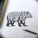 фото Эскизы тату лес от 29.09.2017 №001 - Sketches of a forest tattoo - tatufoto.com