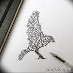 фото Эскизы тату лес от 29.09.2017 №003 - Sketches of a forest tattoo - tatufoto.com