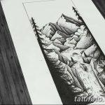 фото Эскизы тату лес от 29.09.2017 №004 - Sketches of a forest tattoo - tatufoto.com